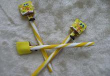 2014 wholesale cute novelty design pretty sponge baby shape ball pen 0.5mm