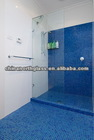 Northglass Polished edge 10mm acid etched or clear Toughened shower screen glass