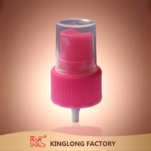 Nice Colorful KL Dia24 Ribbed Closure Mist Screw Pink Pump Sprayer K-M01B