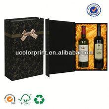 2014 u color wine bottle cardboard carrier made in china