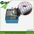 Cortador de etiqueta/cutterr marca de fita/cetim label máquina de corte
