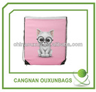 Eco-friendly promotional polyester shopping drawstring bags
