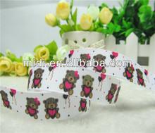 "5/8"" Little Bear Print Grosgrain Ribbon 10Yards/Roll Ribbon Set"