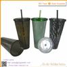 plastic cups with straws and lids/plastic reusable cup with straw bpa free/straw cups for kids