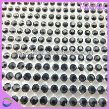 black silver base rhinestone meshs chain roll aluminum crystal for dress