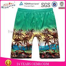 Sea quick dry colorful men beach printed swim shorts