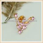 decorative rhinestone brooches in bulk for lady dress/bag design 2014 hotsale