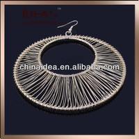 Handsome copper wire large hoop dangler