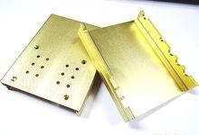 Gold color extruded aluminum heatsink enclosure part