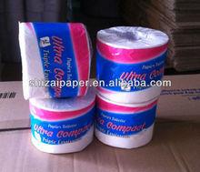 100% Virgin Wood Pulp Toilet Roll tissue paper R410