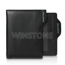 full grain real leather wallet with drive-license holder