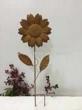 Garden stake metal flower crafts
