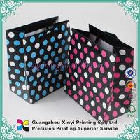 Packaging shopping free shipping multi-color kraft paper gift bag