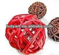 wicker decorative balls