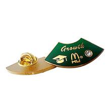 2014 wholesale free samples custom metal badges of famous brands