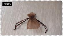 Custom Brown organza ring bags