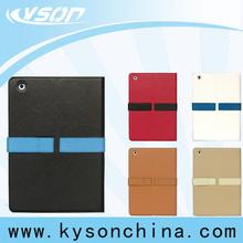 For new ipad mini 2 case, flip leather notebook case for ipad mini