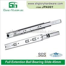 Durable useful single extension ball bearing slide