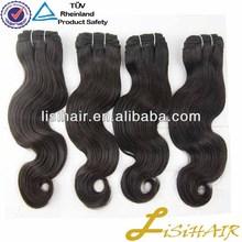 Never Tnangle & No Shedding Natural Color Virgin Human Hair human hair mixed synthetic fiber hair weaving