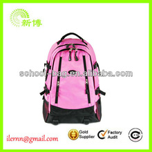 white top quality hiking backpack with flowers image