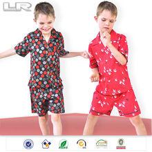 Plus Patterns Front Button Boys Cotton Summer Pajamas