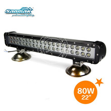"22"" double rows auto off road led light bar for trucks 80W cree led headlight sm6022-80"