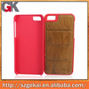 Manufacturer wood+pc cell phone cover and case for iphone/ for samsung