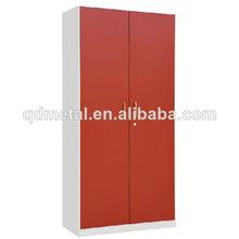 red two-door metal aluminium cupboard doors cabinet/metal locker