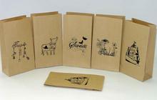 white kraft paper bag, kraft paper bags food grade and paper bags with handles wholesale