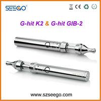 Newest innovative glass tank atomizer Seego manufacturer G-hit K2 2013 best vaporizer e shisha pen no burnt taste