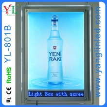New fashional crystal with led pannel acrylic light box