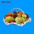/de cerámica de porcelana cesta de frutas de la decoración