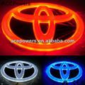 Primeiro- classe de frente toyota carro levou crachá de luz/emblema do carro levou logo/luz logotipo do carro 4d