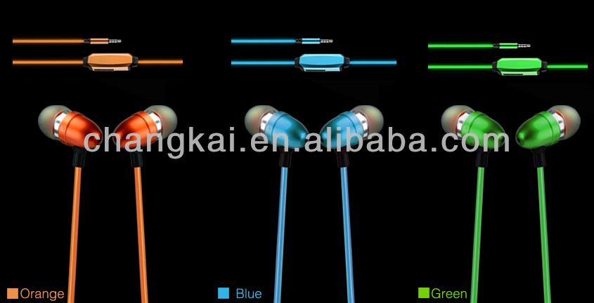 2014 New Arrival EL wire earphone