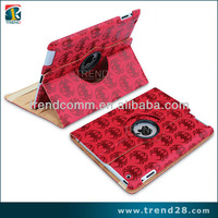 ebay alibaba Spider pattern with logo hole PU smart cover case for ipad 3