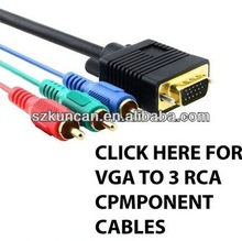 VGA input to RCA output component S-Video AV TV Adapter Conventer Cable for HDTV Laptop