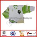 Baratos planície da equipe de hóquei camisola cor verde& branco