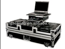 flight case for two 1200 turntable and one 12 inch mixer,with gliding platform