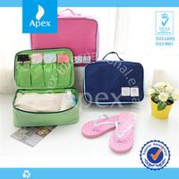 2014 cute nylon travel bra and panty bag