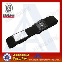 Name brand novelty design adjustable luggage belt with safety breakaway buckles