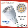 Factory price decorative Ra80 9W cree led spot light ac100-240v led bulb gu10 lampe led spotlight