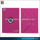 wholesale eye-catching logo hole design PU cover case for ipad mini2