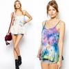 Tie dye ladies summer tops/ladies wholesale clothing/ladies clothing