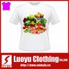 Customize tagless white fruits printed tshirt