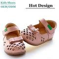 Cuero genuino zapatos de los bebés de la fábrica del OEM niños zapatos cruzados