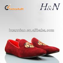 Custom velvet loafer men