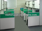 Cluster of 8 Seats Office Workstation Cubicle Office Partition Desk