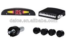 Car LED Parking Reverse Backup Radar System With Backlight Display+4 Sensors Black Colors