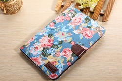 For ipad mini 2 360 mobile phone case Flip Wallet Canvas Case with Credit Card Stand case
