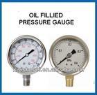 Stainless steel body micro liquid filled pressure gauge